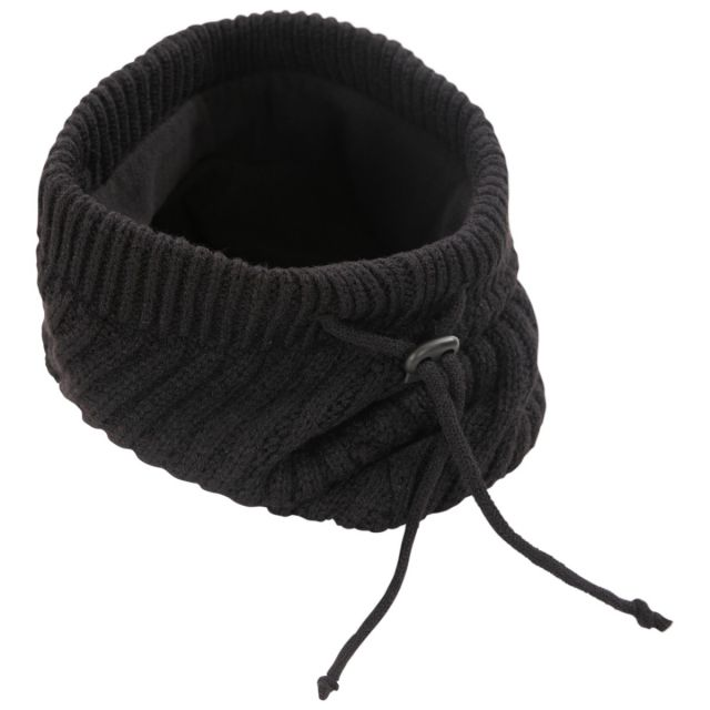 Unisex Asymmetric Neck Warmer in Black