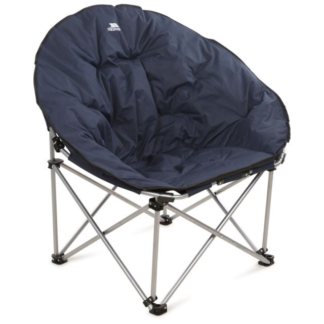 Tycho Padded Camping & Garden Folding Moon Chair in Navy