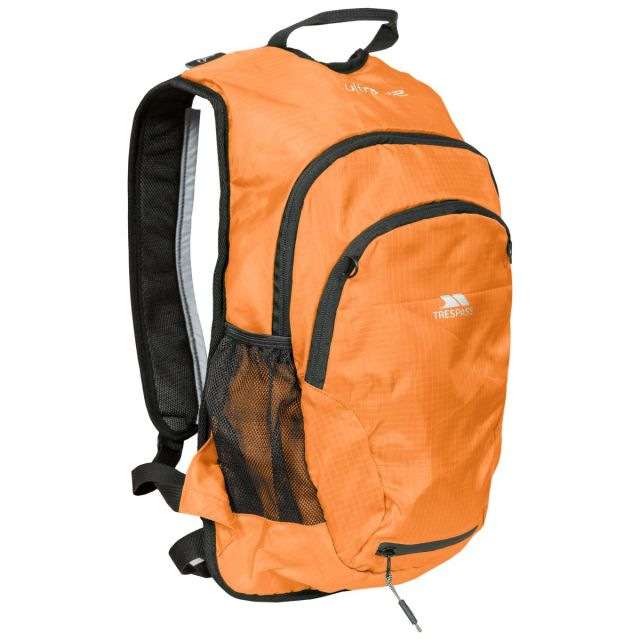 Ultra 22L Orange Cycling Hydration Backpack in Sunrise, Front view