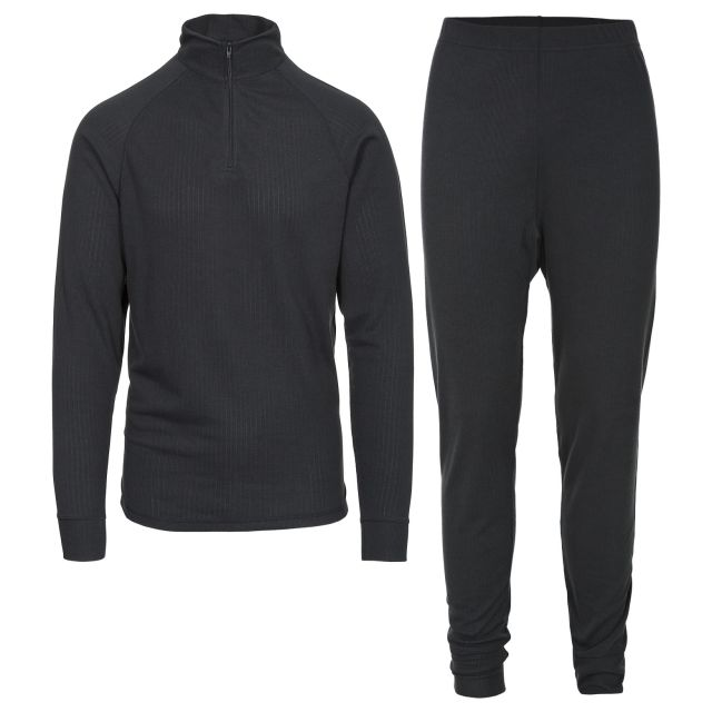 Trespass Adults Thermal Set in Black Unite360