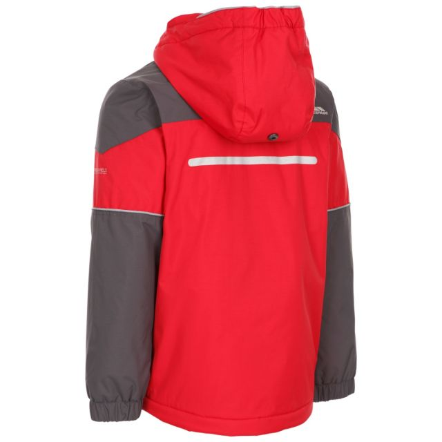 Trespass Kids Padded Waterproof Jacket Unlock Red