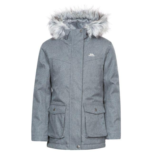 Vardia Girls' Waterproof Parka Jacket in Grey