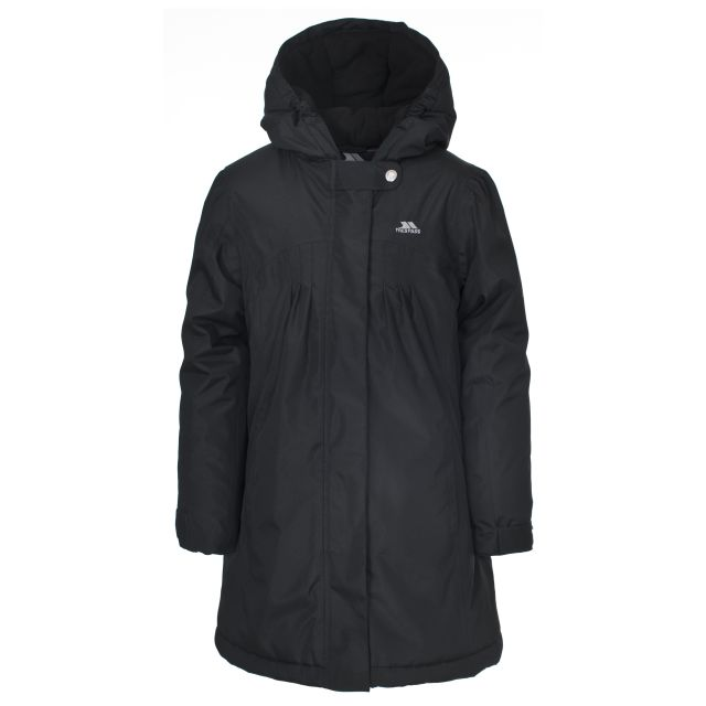 Vee Girls' Waterproof Jacket in Black