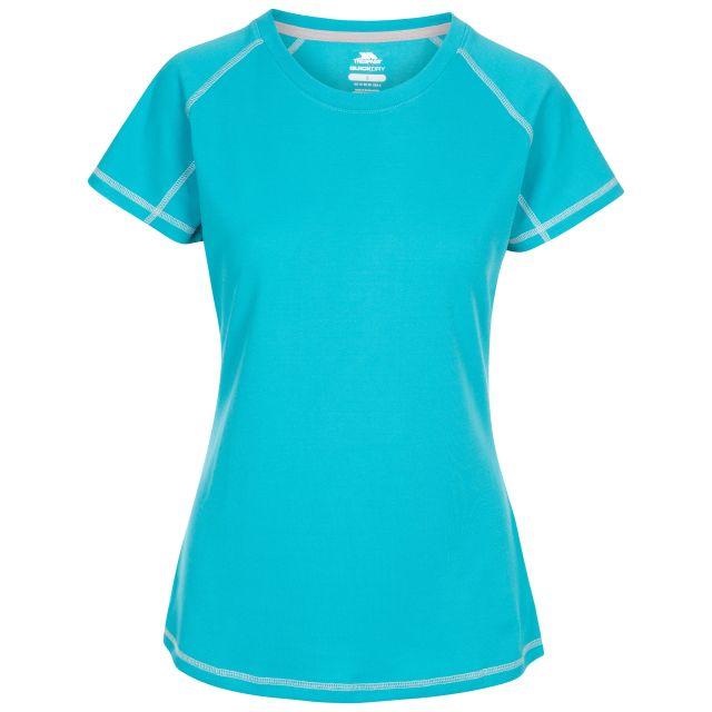 Trespass Women's Active T-Shirt Viktoria Blue, Front view on mannequin