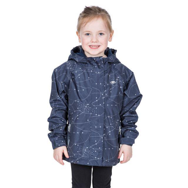 Vilma Kids' Printed Waterproof Jacket in Navy