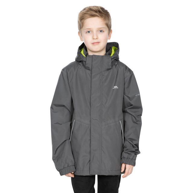 Vincenzo Kids' Waterproof Jacket in Grey
