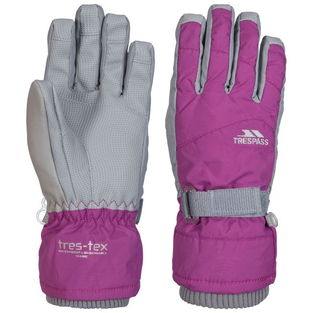 Vizza II Kids' Waterproof Ski Gloves in Purple
