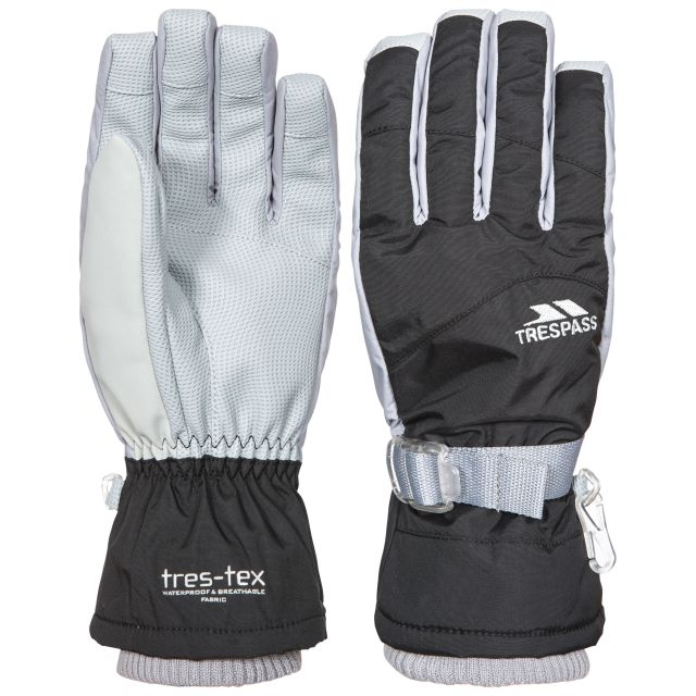 Vizza II Kids' Waterproof Ski Gloves in Black