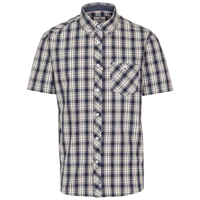 Trespass Mens Checked Shirt Short Sleeved Wackerton Navy