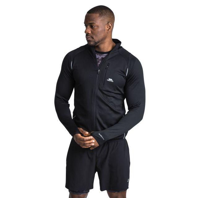 Whiten Men's Quick Dry Active Jacket in Black