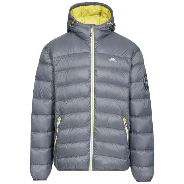 Whitman Men's Down Packaway Jacket in Grey