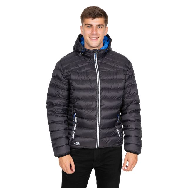 Whitman II Men's Down Packaway Jacket in Black