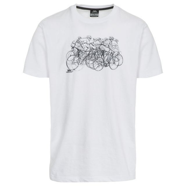 Wicky Men's Printed Casual T-Shirt in White