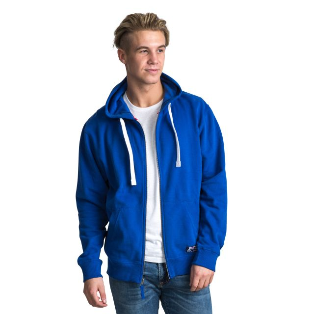 Wreath Men's Full Zip Hoodie in Blue