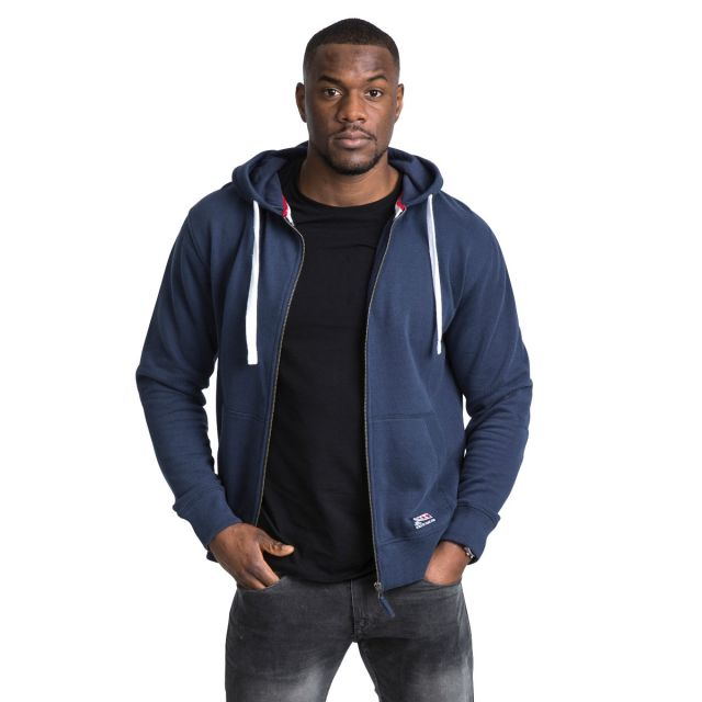 Wreath Men's Full Zip Hoodie in Navy