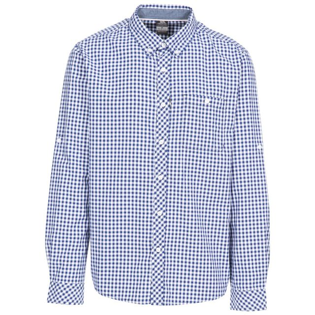 Yafforth Men's Cotton Shirt in Blue