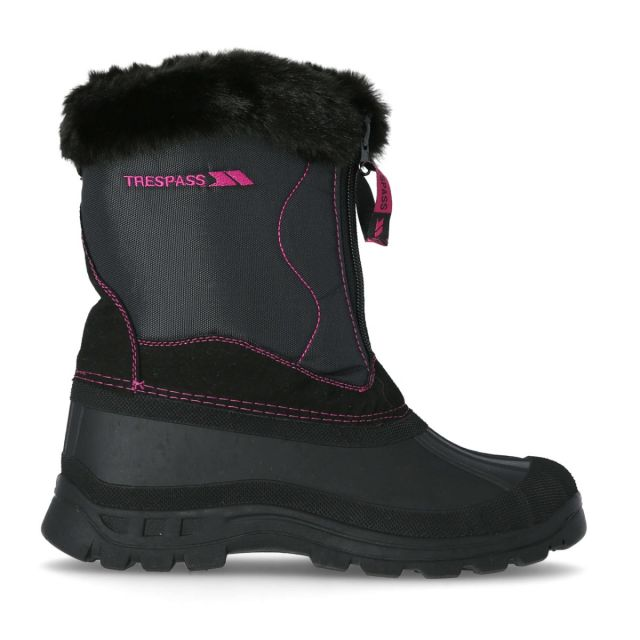 Zesty Women's Waterproof Snow Boots in Black