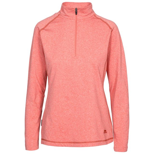 Zirma Women's 1/2 Zip Long Sleeve Active Top in Peach