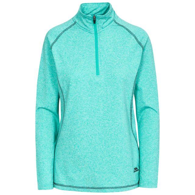 Zirma Women's 1/2 Zip Long Sleeve Active Top in Blue