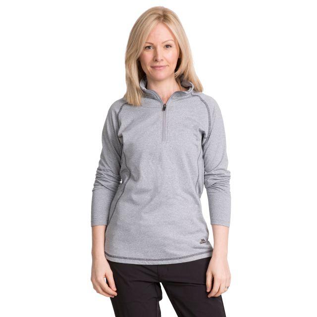 Zirma Women's 1/2 Zip Long Sleeve Active Top in Light Grey