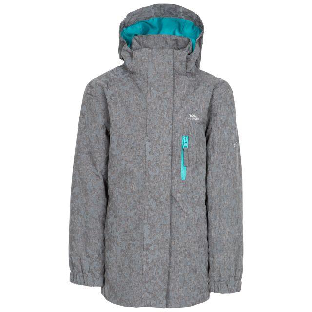 Zoey Kids' Reflective Waterproof Jacket in Grey