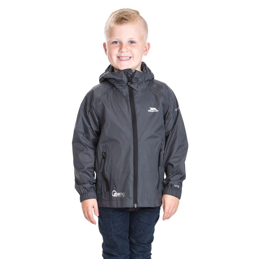 Trespass Childrens//Kids Packup Jacket Waterproof Packaway Jacket