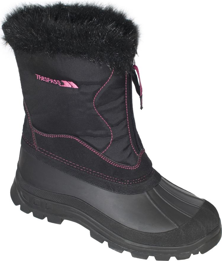 Faux Fur Lined Waterproof Snow Boots