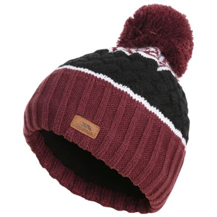 Kids' Knitted Bobble Hat in Fig