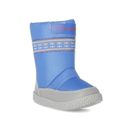 Alfred Babies' Snow Boots in Blue, Angled view of footwear