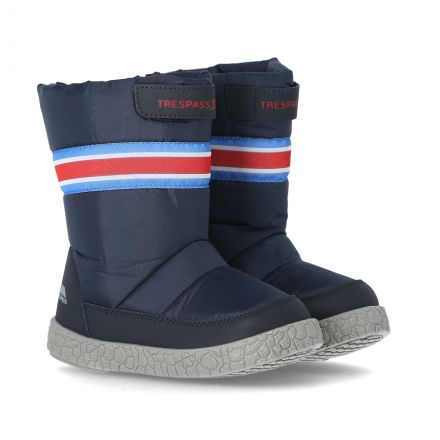 Alfred Babies' Snow Boots in Navy, Pair of footwear