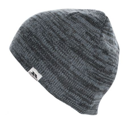 Aneth Marl Beanie in Grey, Hat at angled view