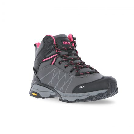 Arlington II Womens DLX Walking Boots in Grey, Front view of footwear