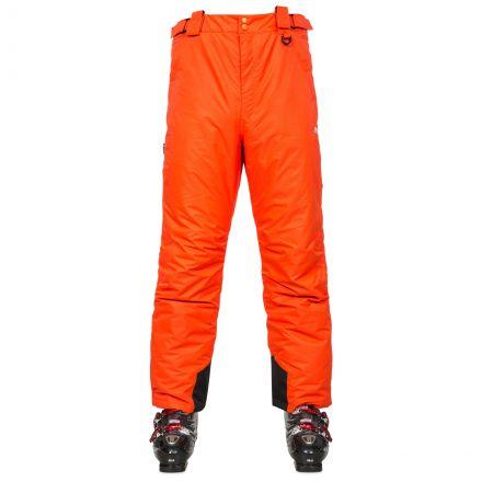 Bezzy Men's Salopettes in Orange, Front view on model