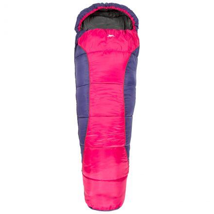Trespass Kids Sleeping Bag 3 Season Lightweight Bunka Purple, Front view
