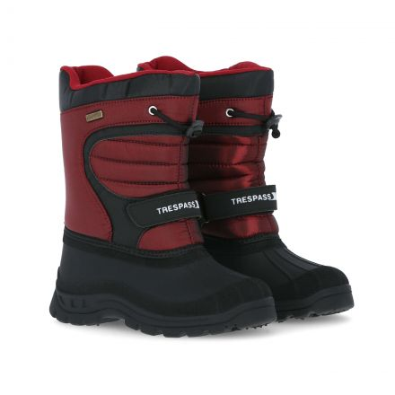 Dodo Youth Water Resistant Snow Boots in Red, Pair of footwear