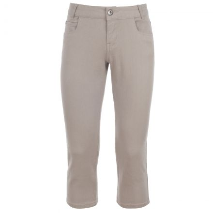 Sylvie Womens 3/4 Length Trousers in Beige