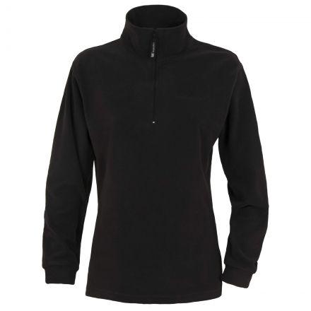 PERA Womens Half Zip Microfleece in Black