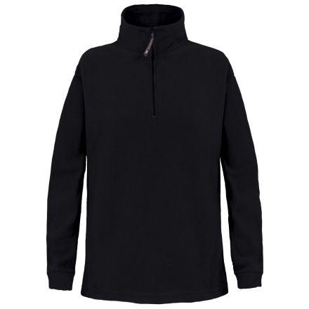 Trespass Kids Half Zip Fleece in Black Pera