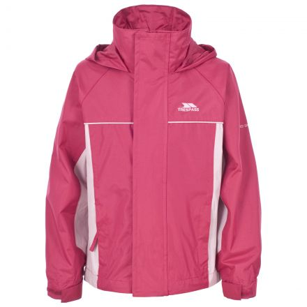 Trespass Girls Waterproof Jacket in Pink Sooki