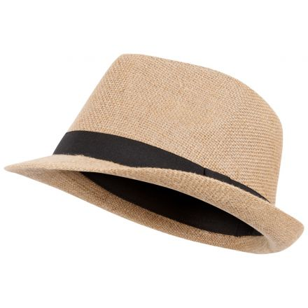Fedora Adults' Fedora Hat in Beige, Hat at angled view