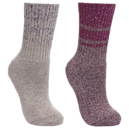 HADLEY Women's Anti Blister Walking Socks in Purple