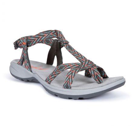 Hueco Women's Sandals in Grey, Front view of footwear