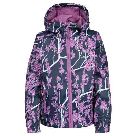 Trespass Girls Waterproof Jacket in Navy Inez
