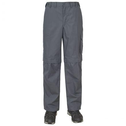 Mallik Men's Zip Off Walking Cargo Trousers in Grey