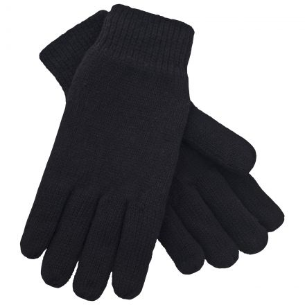 Bargo Adults' Knitted Gloves in Black