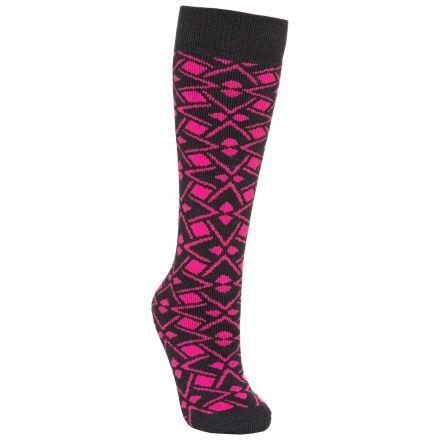 Marci Women's Printed Tube Socks in Pink