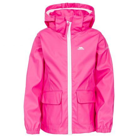 Trespass Girls Waterproof Jacket in Pink Nella