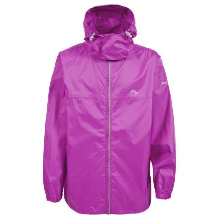 Trespass Adults Waterproof Packaway Jacket in Pink Packup