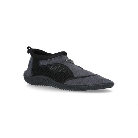 Paddle II Adults' Aqua Shoes in Light Grey, Angled view of footwear