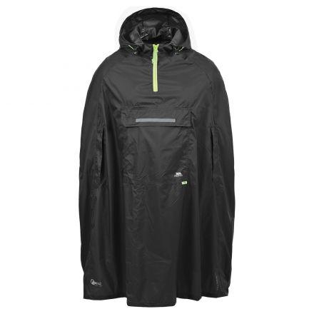 Trespass Adults Waterproof Poncho in Black Qikpac